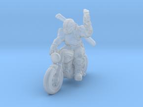 SciFi biker 28mm scale in Smooth Fine Detail Plastic