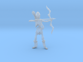 Skeleton archer 54mm in Smooth Fine Detail Plastic