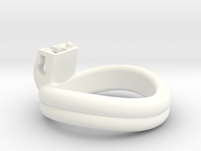 Cherry Keeper Ring - 47mm Double -8° in White Processed Versatile Plastic