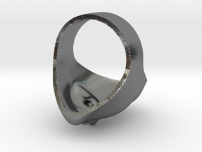 ALIEN RING in Polished Silver: 7 / 54
