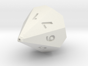 D7 dice in White Natural Versatile Plastic