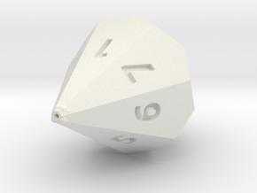 D7 dice in White Natural Versatile Plastic