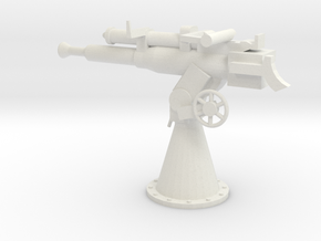 1/24 Scale 3 Inch 23 Cal AA Gun in White Natural Versatile Plastic