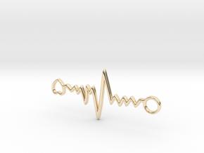 Heart Beat Pendant in 14K Yellow Gold