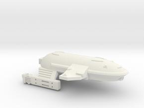 3788 Scale WYN Barracuda Frigate (FF) CVN in White Natural Versatile Plastic