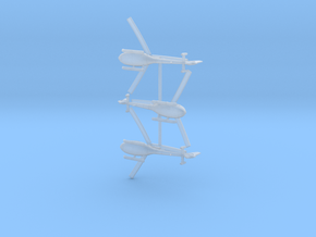 035J Gazelle Set of 3 1/350 in Smooth Fine Detail Plastic