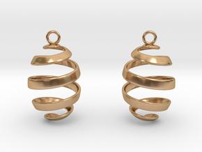 Ribbon Earrings in Polished Bronze