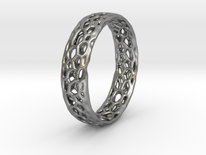 L -  Hex web 1 - 16.3mm in Natural Silver