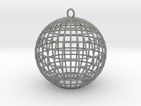 contemporary bauble ornament in Gray PA12
