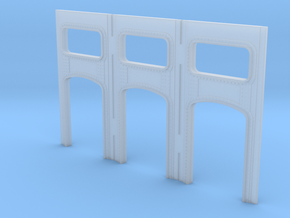 Arched Cross Girders - set of 3 (N-scale) in Smooth Fine Detail Plastic