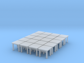 1/87 H0 tables 20 in Smoothest Fine Detail Plastic