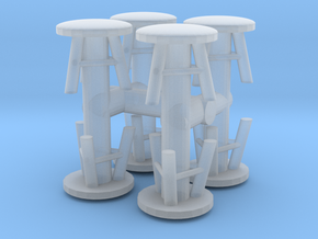 Stool (x8) 1/76 in Smooth Fine Detail Plastic