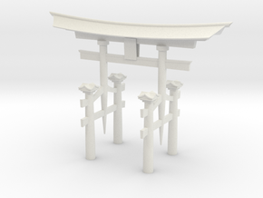 Torii HO scale in White Natural Versatile Plastic