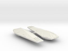 3788 Scale Hydran Lancer Destroyers (2) CVN in White Natural Versatile Plastic