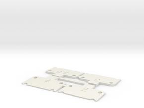 Traxxas Squat Shims 2-4 Degree Set in White Natural Versatile Plastic