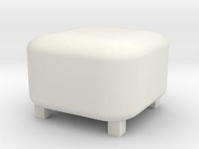 Footrest Pouf 1/24 in White Natural Versatile Plastic