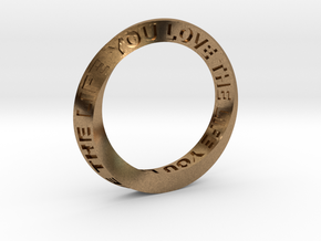 Live The Life You Love - Mobius Ring in Natural Brass