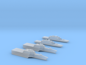1:6000 Littoral Combat Ships Freedom+Independence in Smooth Fine Detail Plastic