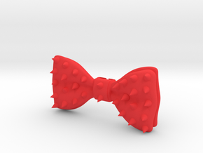 Studded 3D printed Bow Tie in Red Processed Versatile Plastic