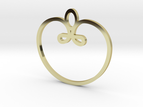 heart, apple pendant in 18k Gold Plated Brass