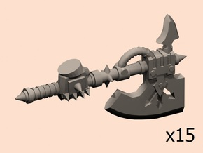 28mm Evil powered axes hand in Smoothest Fine Detail Plastic