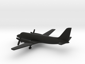 Grumman Gulfstream I (G-159) in Black Natural Versatile Plastic: 6mm