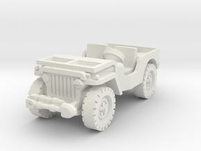 Jeep airborne 1/72 in White Natural Versatile Plastic