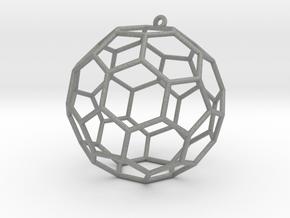 fullerene bauble ornament in Gray PA12