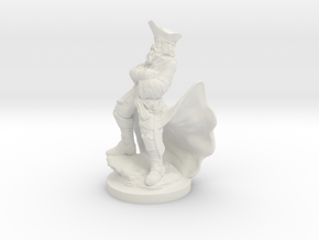 Pirate Captain figurine in White Natural Versatile Plastic