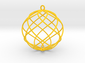 spiral bauble ornament in Yellow Processed Versatile Plastic
