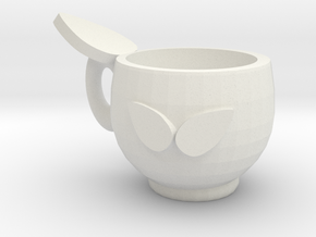 Tea cup in White Natural Versatile Plastic