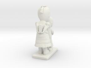 Decorative figurine in White Natural Versatile Plastic