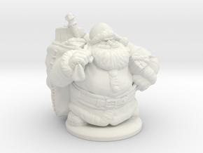 Dwarven Santa Miniature in White Natural Versatile Plastic