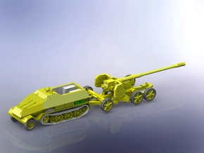 12,8cm Kanone 44 (Pak 44) with sd.Kfz. 8 1/144 in Smooth Fine Detail Plastic