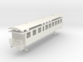 Bernese Oberland Bahn h0m person wagon old ab 206  in White Natural Versatile Plastic