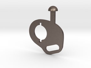 M4 sling mount in Polished Bronzed-Silver Steel