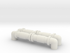 Industrial Pipeline (x2) 1/144 in White Natural Versatile Plastic