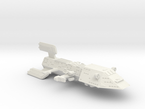 3788 Scale Kzinti Space Control Ship (SCS) SRZ in White Natural Versatile Plastic