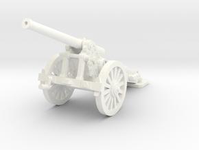1/48 155mm DeBange cannon test in White Processed Versatile Plastic