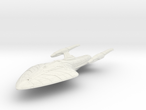 Federation Erebus Class  Cruiser V2 in White Natural Versatile Plastic