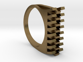 Tri-Fold Edge Ring - US Ring Size 07 in Natural Bronze