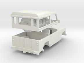 Land Rover Soft top Split 1/72 in White Natural Versatile Plastic