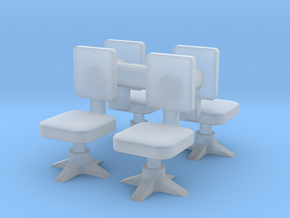 Office chair (x4) 1/87 in Smooth Fine Detail Plastic