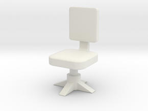 Office chair 1/12 in White Natural Versatile Plastic