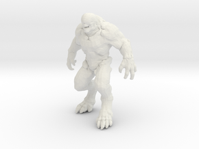 Doom Hellknight 5 inch miniature for games and rpg in White Natural Versatile Plastic