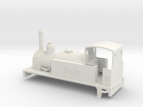 Neilson 2-2-2T tank engine in White Natural Versatile Plastic