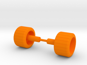 Crater Cruncher Wheels in Orange Processed Versatile Plastic