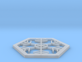 Snowflake coaster in Smooth Fine Detail Plastic