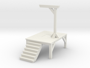 Gallows - Single Posted (N Scale) in White Natural Versatile Plastic