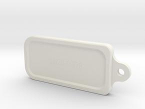 Aquarius key ring in White Natural Versatile Plastic
